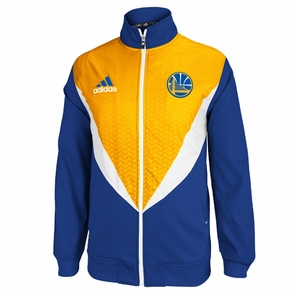 Golden State Warriors adidas Resonate Full Zip Performance Jacket - Royal/Gold - Click to enlarge