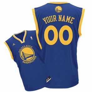 Golden State Warriors adidas  Customizable Road Replica Jersey - Royal Blue<br><b><i>Customize your name or any player!</i></b> - Click to enlarge