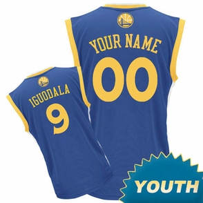 Golden State Warriors adidas  Customizable Youth Road Replica Jersey - Royal Blue<br><b><i>Customize your name or any player!</i></b> - Click to enlarge
