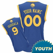 Golden State Warriors adidas  Customizable Youth Road Replica Jersey - Royal Blue<br><b><i>Customize your name or any player!</i></b>