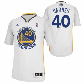 Golden State Warriors adidas Revolution 30 Harrison Barnes #40 Short Sleeve Swingman Alternate Jersey - White - Click to enlarge