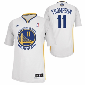 Golden State Warriors adidas Revolution 30 Klay Thompson #11 Short Sleeve Swingman Alternate Jersey - White - Click to enlarge