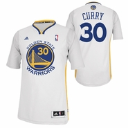 Golden State Warriors adidas Revolution 30 Stephen Curry #30 Short Sleeve Swingman Alternate Jersey - White