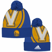 Golden State Warriors adidas Secondary Logo Cuffed Knit Pom � Royal