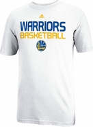 Golden State Warriors Adidas Short Sleeve Basketball Tee-White