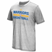 Golden State Warriors adidas Short Sleeve Climacool� Aeroknit Practice Tee - Grey