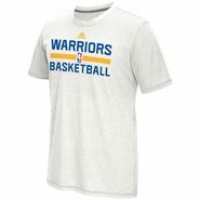 Golden State Warriors adidas Short Sleeve Climacool� Aeroknit Practice Tee - White