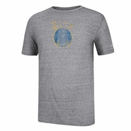 Golden State Warriors adidas Short Sleeve Tri-Blend Bigger Better Retro Logo Tee - Grey
