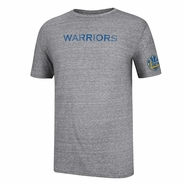 Golden State Warriors adidas Short Sleeve Tri-Blend Bigger Better Wordmark Tee - Grey