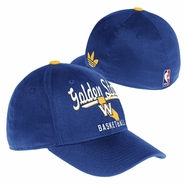 Golden State Warriors adidas State 'W' Logo Basic Flex Cap - Royal