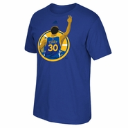 Golden State Warriors adidas Stephen Curry #30 3-Point Splash Tee - Royal
