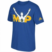 Golden State Warriors adidas Stephen Curry #30 Back 2 Back MVP Short Sleeve Tee - Royal