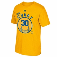 Golden State Warriors adidas Stephen Curry #30 MVP Hardwood Classics Short Sleeve Tee - Gold