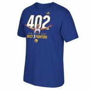 "Golden State Warriors adidas Stephen Curry ""402"" 3-Pointers NBA Record Tee - Royal"