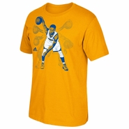 Golden State Warriors adidas Stephen Curry Ghost Graphic Short Sleeve Tee � Gold