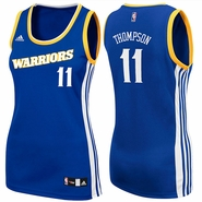 Golden State Warriors adidas Stretch Women's Crossover Klay Thompson #11 Replica Jersey - Royal