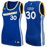 Golden State Warriors adidas Stretch Women's Crossover Stephen Curry #30 Replica Jersey - Royal