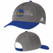 Golden State Warriors adidas Structured Adjustable Snapback Cap - Grey
