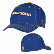 Golden State Warriors adidas Structured Flexfit Cap - Royal/Gold