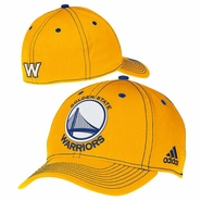 Golden State Warriors adidas Structured Team Logo Flexfit Cap - Gold
