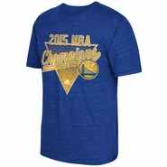 Golden State Warriors adidas Summit Sweep Triblend Tee - Royal - Will Ship 7/8