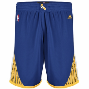 Golden State Warriors adidas Royal Blue Road Swingman Shorts - Click to enlarge