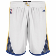 Golden State Warriors adidas White Home Swingman Shorts