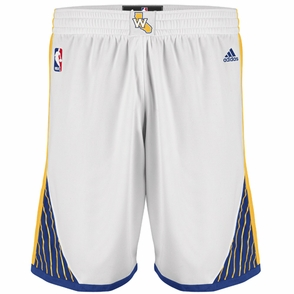 Golden State Warriors adidas White Home Swingman Shorts - Click to enlarge