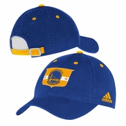 Golden State Warriors adidas Team Logo Crest Adjustable Slouch Cap - Royal