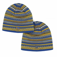 Golden State Warriors adidas Team Logo Retro Pattern Skully - Royal/Gold