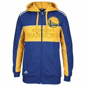 Golden State Warriors adidas The Chosen Few 3-Stripe Full Zip Hoody - Royal/Gold - Click to enlarge