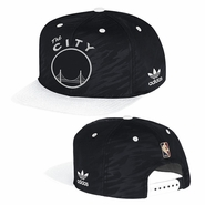 """Golden State Warriors adidas """"The City"""" Black & White Snapback"""