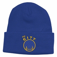 Golden State Warriors adidas �The City� Cuffed Knit � Royal/Gold