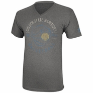Golden State Warriors adidas 'The City' Lace Rock V-Neck Tee - Grey