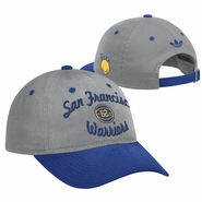 Golden State Warriors adidas 'The City' San Francisco 1962 Slouch Adjustable Cap - Grey/Royal