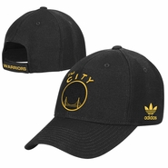 Golden State Warriors adidas �The City� Structured Adjustable Cap � Black/Gold