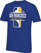 Golden State Warriors adidas �The City� Team Dribbler Originals Go-To Tee � Royal