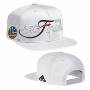 Golden State Warriors adidas The Finals Adjustable Flat Brim Snapback - White - Will Ship 6/8