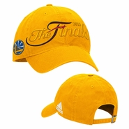 Golden State Warriors adidas The Finals Adjustable Slouch Cap - Gold - Will Ship 6/8