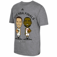 Golden State Warriors adidas The Finals Curry vs. James Geek'd Up Tee - Grey - Will Ship 6/8