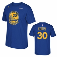 Golden State Warriors adidas The Finals Replica Tee - Stephen Curry - Royal - Will Ship 6/8