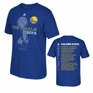 Golden State Warriors adidas The Finals Roster Tee - Royal