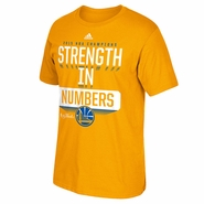Golden State Warriors adidas 'The Phrase That Pays' Champs Tee - Gold - Will Ship 7/8