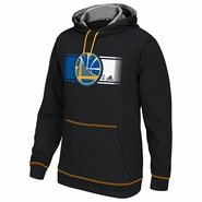 Golden State Warriors adidas Tip-Off Pullover Hood - Black