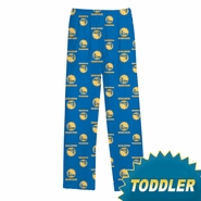 Golden State Warriors adidas Toddler All Over Printed Flannel Sleep Pant - Royal