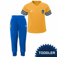 Golden State Warriors adidas Toddler Courtside Pant Set � Royal/Gold