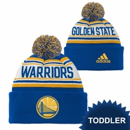 Golden State Warriors adidas Toddler Cuffed Knit With Pom � Royal