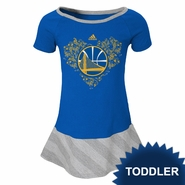 "Golden State Warriors adidas Toddler ""Fancie"" Drop Waist Dress - Grey"