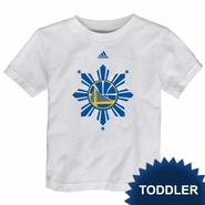 Golden State Warriors adidas Toddler Filipino Heritage On-Court Tee - White