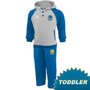 Golden State Warriors adidas Toddler Fleece Hoody & Pant Set - Grey